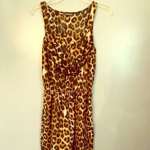 Express mini dress leopard print Sz M